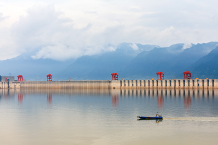 three gorges: spectacular scenery of Three Gorges Dam
