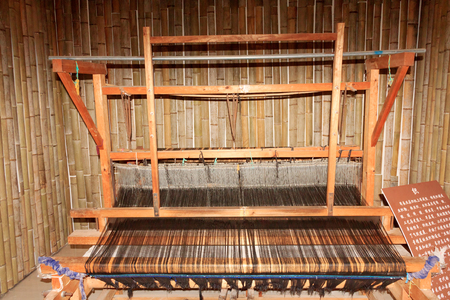 loom: Close up of a traditional loom machine Stock Photo