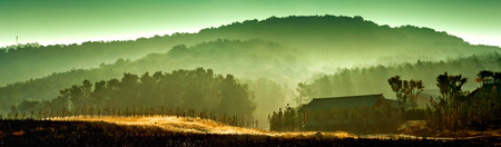 backlights: Landscape view of the wild scenery Stock Photo