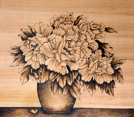 Chinese crafts gourd pyrography pictures Editorial