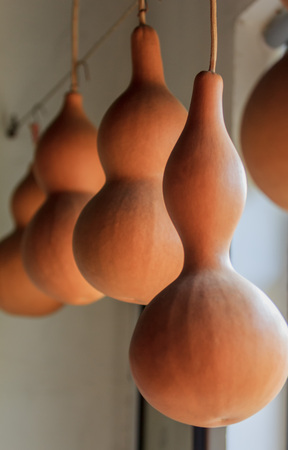 immaterial: Chinese crafts gourd pyrography pictures Stock Photo