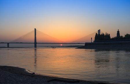 Yangtze River sunset Stock Photo