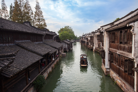 Scenic beauty of Wuzhen in the south of the Yangtze River