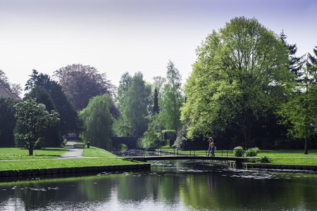 A beautiful park at the cozy little town of Bussum, Netherlands