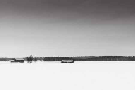 emphasized: The emptiness of the landscape is emphasized in this typical shot of the Finnish countryside.