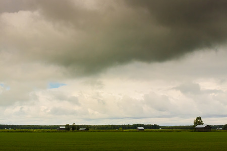 quite: The summer of the Northern Finland can be quite surprising. When you expect the sun to shine, you get heavy rain clouds.