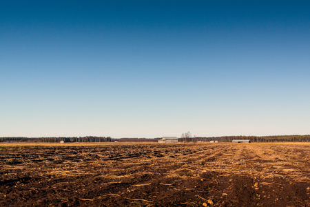 field work: The winter is coming and the farmers have finished the field work in the rural Finland.