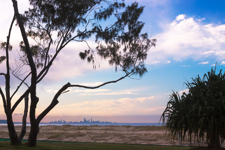coolangatta: You can see the city of Gold Coast skyline from the beach town of Coolangatta, QLD, Australia. A place well worth visit.