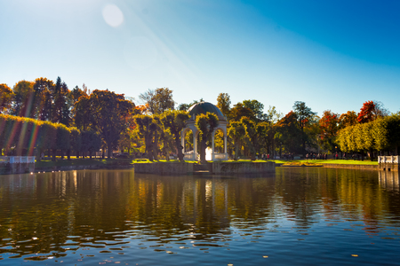 quite: The leaves of the trees in the Kadriorg park in Tallinn, Estonia, are quite colorful in the autumn. The park is very popular although the days are not so warm anymore.