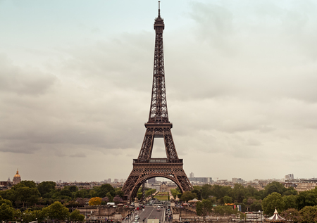 The rain is getting closer to the best known landmark of Paris, the Eiffel Tower.