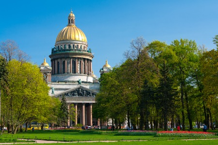 St. Isaacs Cathedral. Saint Petersburg Sunny day