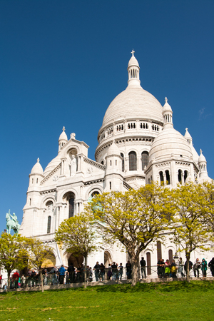 sacre coeur: cathédrale Sacré Ceure à Paris montmartre Banque d'images