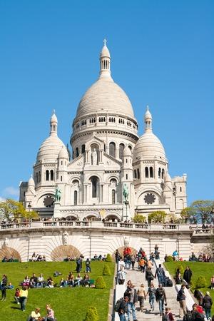 sacre: Sacre Ceure cathedral in Paris montmartre Stock Photo