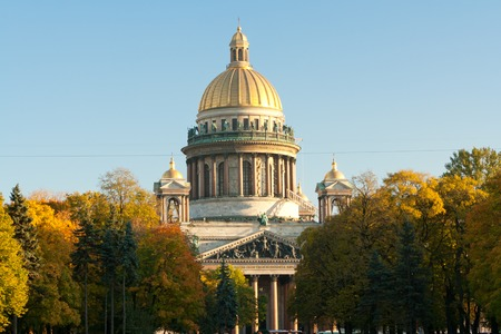 st  petersburg: St. Isaacs Cathedral. Saint Petersburg Sunny day