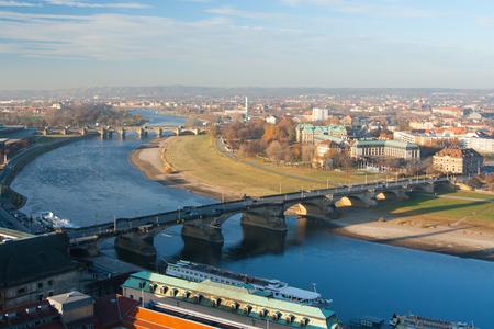 the eighteenth: August Bridge view from the birds eye view. Dresden