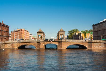 Staro-Kalinkin Bridge on the Fontanka River, Saint - Petersburg. Petersburg, Russia