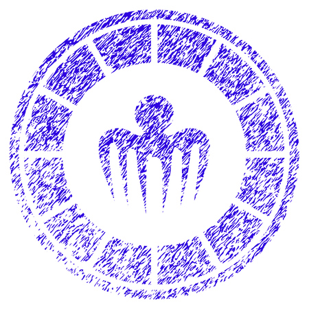 Grunge Spectre Casino rubber seal stamp watermark. Icon symbol with grunge design and dirty texture. Unclean raster blue sticker.