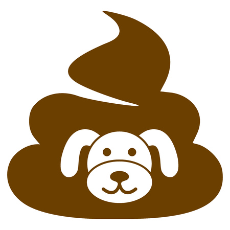 Puppy Shit flat vector pictograph. An isolated illustration on a white background.