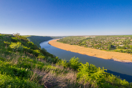 beautiful View to the Dniester River, Moldova, Tipova On the opposite Bank - Republic Transnistria