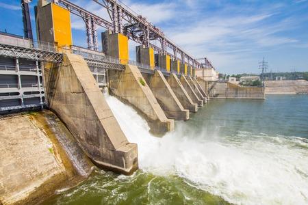 Hydro Power Plant in Dubossary, Moldova Stock Photo