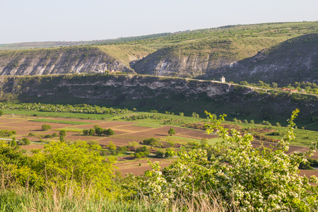 Beautifull view to Old Orhei Vechi famous travel destination in Moldova Stock Photo
