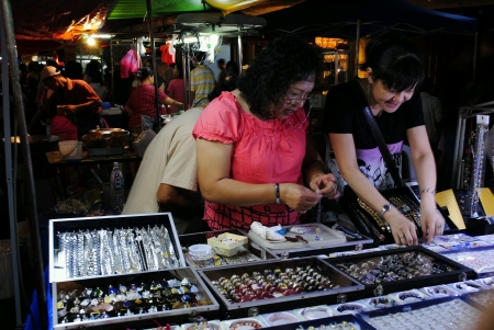 night market: Penang night market Stock Photo