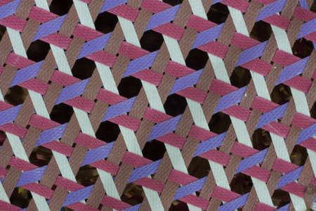 octagonal: Cerca de la Collor octogonal púrpura, marrón, rosa y blanco patrón de tejido Foto de archivo