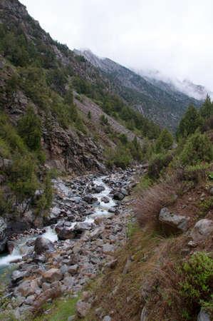 kyrgyzstan: Dugoba Gorge, Kirguistán Foto de archivo