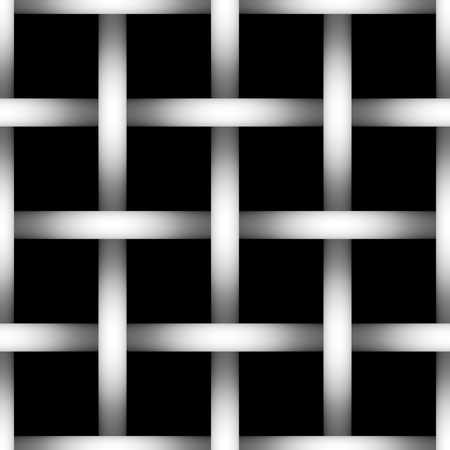 depth: Tone depth wire net  silhouette on black background. Gradient. Tile