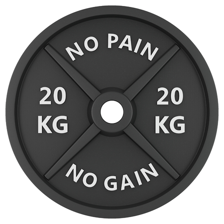 Weight, isolated on white background. 3d image. For logos, design, web, Gym, fitness centers.
