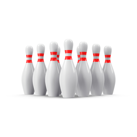 Bowling pins with perspective. For logo, bowling, wallpaper, print etc.