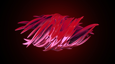 abstract fantastic smooth form on gradient background. For logo, presentation, wallpaper etc.