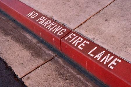 Fire Lane Banco de Imagens