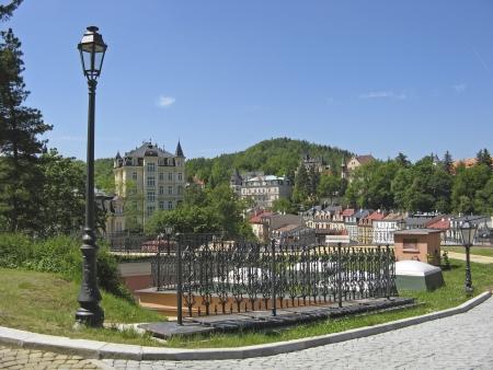 vary: Street Scene Karlovy Vary,Czech famous spa place