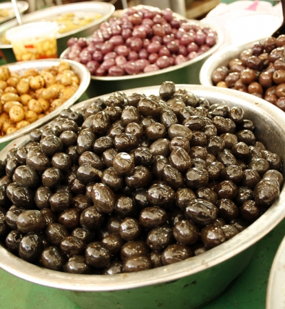 Colorful different kinds of olives on the Israely market Stock Photo - 16428479