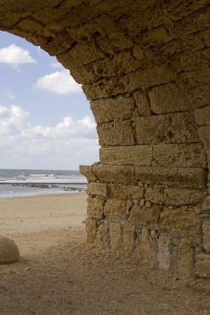 Caesarea Maritima (Greek: pa?????? ?a?s??e?a), called Caesarea Palaestina from 133 AD onwards, was a city and harbor built by Herod the Great about 25�13 BC. Today, its ruins lie on the Mediterranean coast of Israel