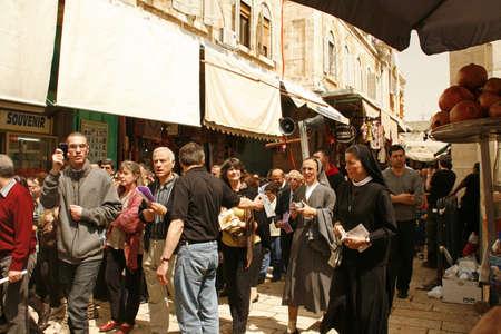 JERUSALEM - APRIL 2: Pilgrims come to Holy Sepulchre for pray, on Good Friday April 2, 2010 in Jerusalem, Israel.  Stock Photo - 18646836