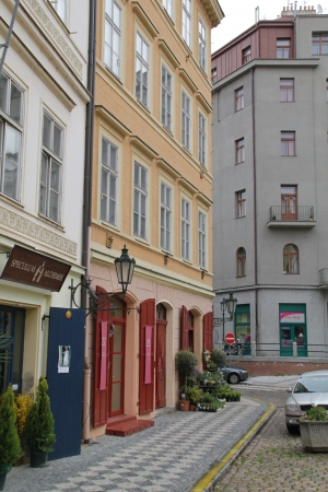 Street scene in Josefov district of Prague, Czech Republic