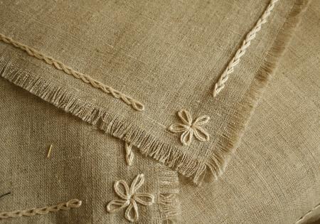 serviette: Handwerk servet en tafellaken Fragments