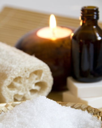 Bath salt,candle,massage oil and Aromatherapy SPA  photo