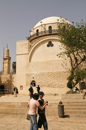 Jewish quarter in Jerusalem .Hurva Sinagogue, Israel