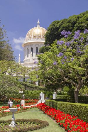 bahai: Bahai Temple in Haifa,Israel