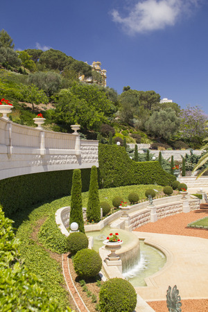 ism: Bahai Garden in Haifa North Israel