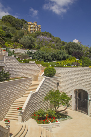 Fragment of Bahai Gardens in Haifa North Israel