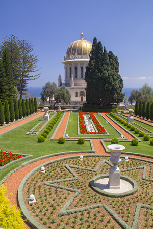 ism: Bahai Temple and Gardens in Haifa,Israel