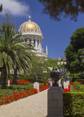 haifa: Bahai Temple in Haifa,Israel