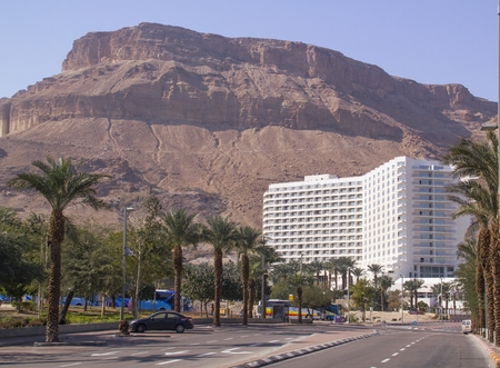 Hotel in Ein Bokek Beach near the Dead Sea ,Israel photo
