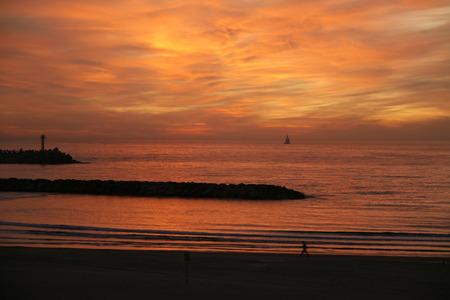 Sunset in Hertzeliya.Mediterranian Sea photo