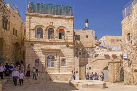 Jerusalem - Street scene in old town of Jerusalem