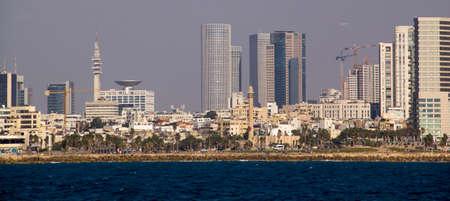 Cityview Panoramic view of Tel-Aviv beach (Mediterranean sea. Israel) photo